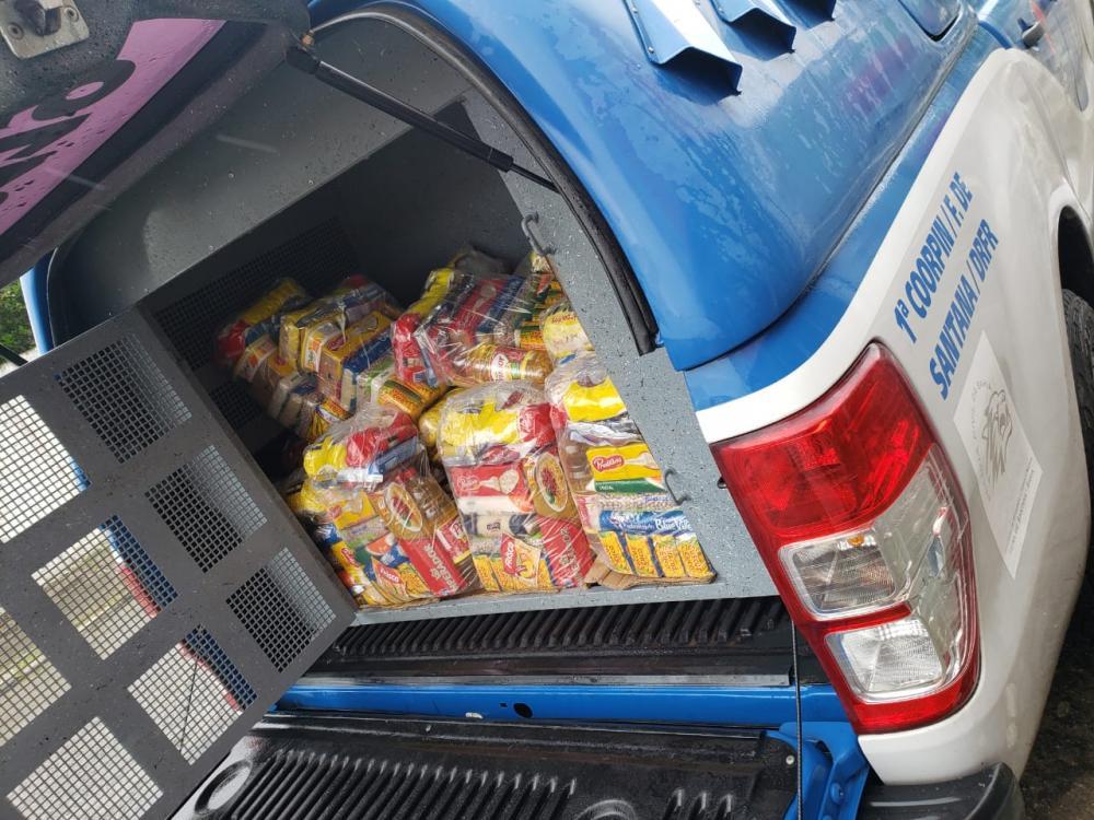 Equipe da DRFR/Feira distribuiu cestas básicas na zona rural