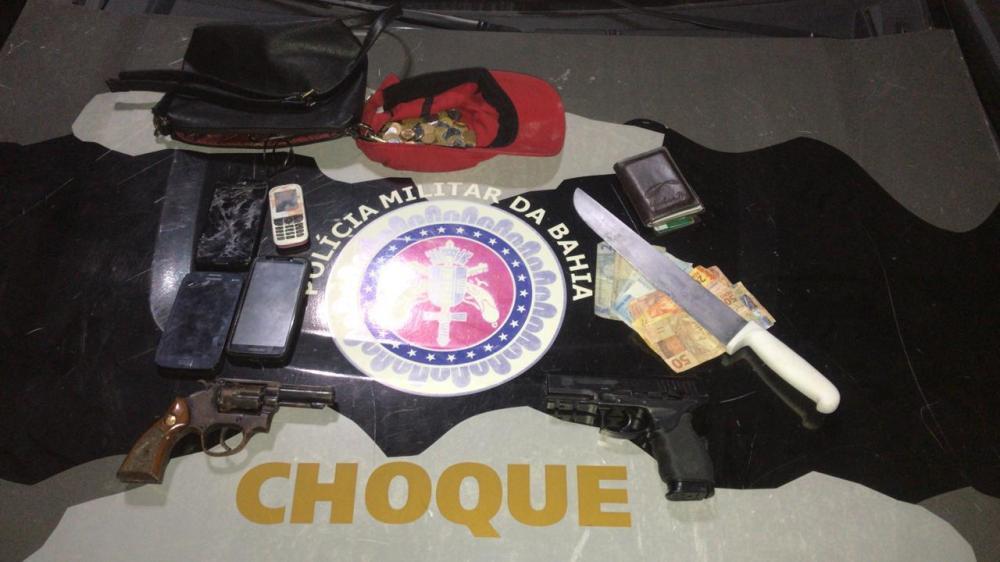 Choque intercepta dupla de assaltantes em Narandiba