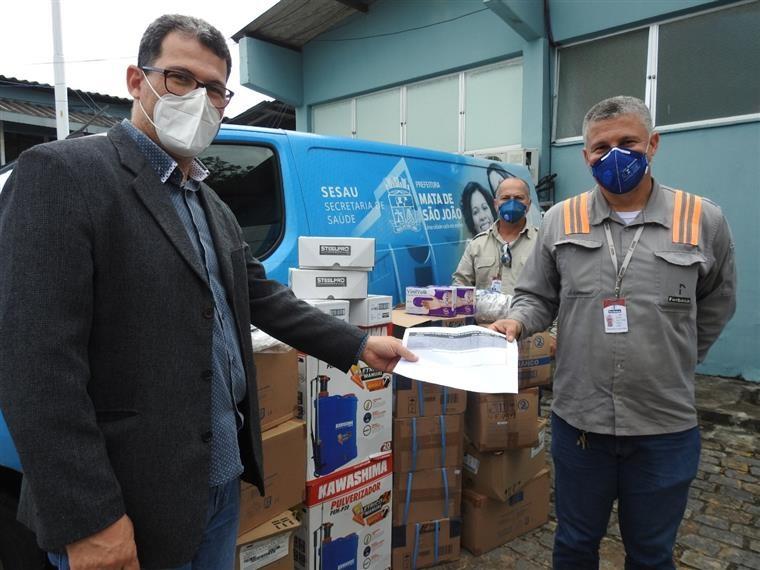 Hospital Municipal recebe EPI'S doados pela FERBASA