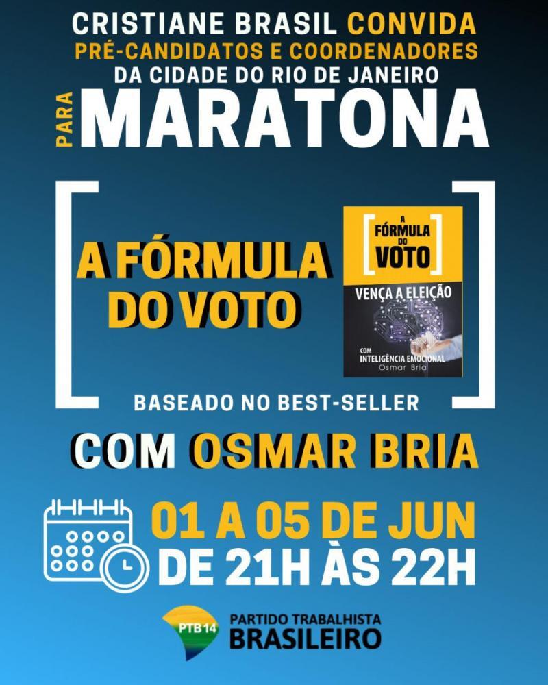 Osmar Bria realiza nova maratona em lives com participação de Cristiane Brasil e PTB/RJ